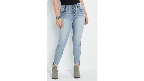 M Jeans by Maurices Vintage High Rise Fray Hem Jegging