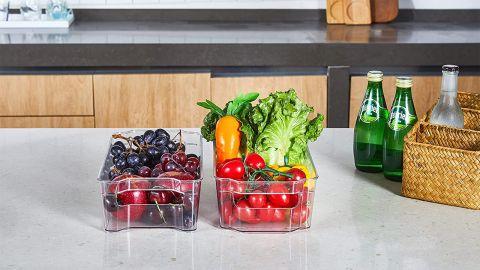 Ginmart Refrigerator Organizer Bin, 2-Pack