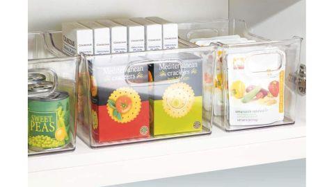 mDesign Plastic Kitchen Pantry Cabinets, Refrigerators or Freezer Food Storage Bin