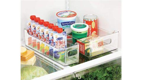 mDesign Slim Stackable Plastic Storage Organization Bins, 2-Pack