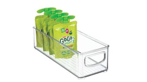mDesign handles with stackable plastic food storage bins
