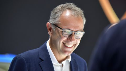 Lamborghini Chairman and CEO Stefano Domenicali attends a press day at the IAA Car Show in Frankfurt, on September 10, 2019. - Frankfurt's biennial International Auto Show (IAA) opens its doors to the public on September 12, 2019, but major foreign carmakers are staying away while climate demonstrators march outside -- forming a microcosm of the under-pressure industry's woes. (Photo by Tobias SCHWARZ / AFP)        (Photo credit should read TOBIAS SCHWARZ/AFP via Getty Images)