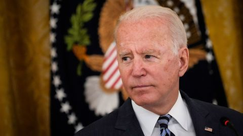 WASHINGTON, DC - AUGUST 25: U.S. President Joe Biden speaks during a meeting about cybersecurity in the East Room of the White House on August 25, 2021 in Washington, DC. Members of the Biden cabinet, national security team and leaders from the private sector attended the meeting about improving the nation&