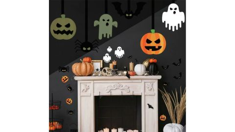 Halloween Glow-in-the-Dark Peel-and-Stick Giant Wall Decals