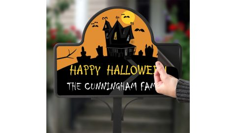 Haunted House Personalized Magnetic Garden Sign