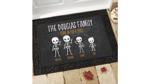 Skeleton Family Personalized Halloween Doormats