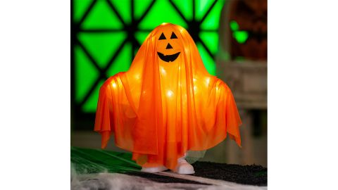 Standing Pumpkin Ghost Halloween Decoration