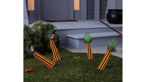 Yard Stake Witch Feet Halloween Decorative Holiday Scene Prop