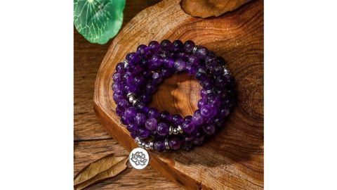 Amethyst garland beads