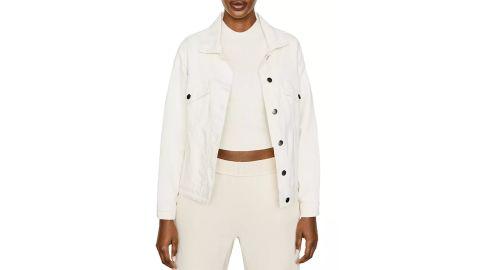 Love & Other Things Faux Fur Trim Denim Jacket