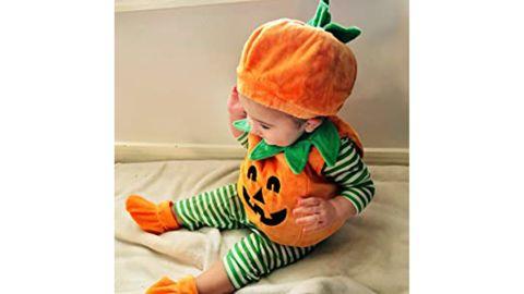 Visgogo Halloween Pumpkin Romper