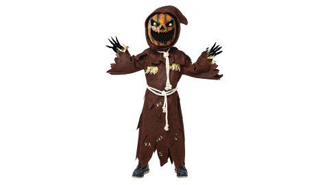 Scary Scarecrow Pumpkin Bobblehead Costume