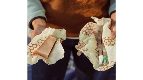 Bee's Wrap Reusable Beeswax Food Wraps, Set of 3
