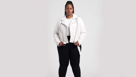 Universal Standard Leeron Leather Moto Jacket