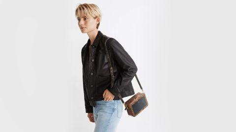 Madewell Washed Leather Chore Jacket