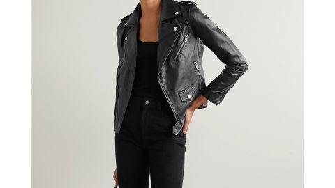 Deadwood + Net Sustain River Leather Biker Jacket
