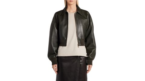 Bottega Veneta Crop Leather Jacket