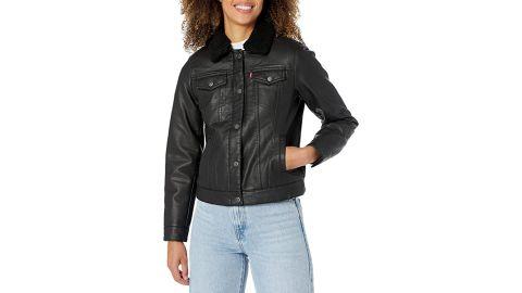 Levi's Sherpa Faux Leather Trucker Jacket