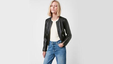 AllSaints Nala Leather Biker Jacket