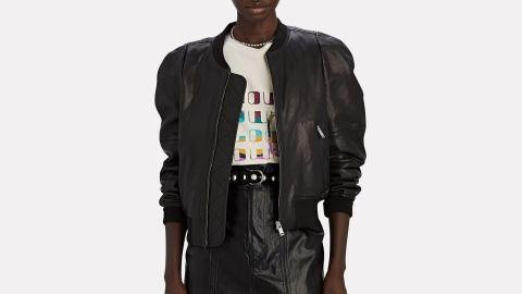Isabel Marant Étoile Corey Leather Bomber Jacket