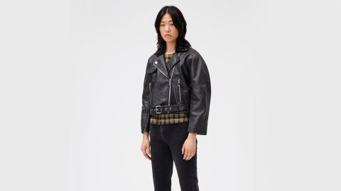 Ganni Leather Motorcycle Jacket