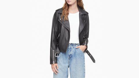 Calvin Klein Faux Leather Biker Jacket