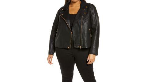 BlankNYC Lifechanger Faux Leather Moto Jacket