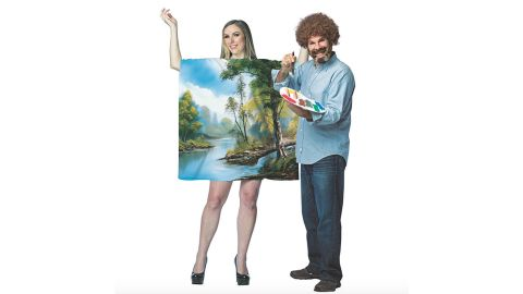 Bob Ross with Art Dress Couple Costumes