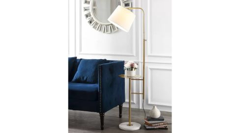 Everly Quinn Anapaola Tray Table Floor Lamp