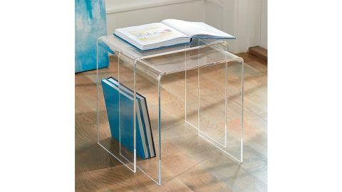 Grandin Road Chamonix Acrylic Nesting Table, Set of Two
