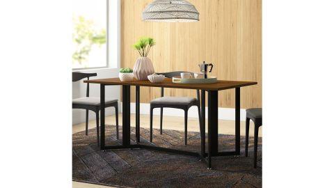 Zipcode Design Adams Drop Leaf Trestle Dining Table