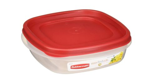 Rubbermaid Easy Find Lids Square 3-Cup Food Storage Container, 4-Se
