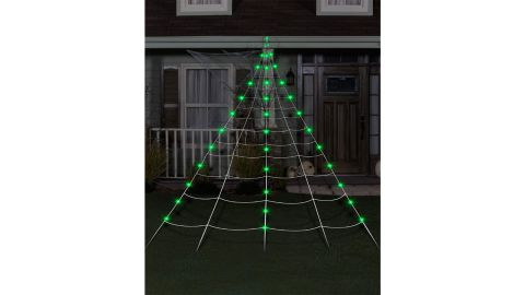 10-Foot Light-Up Green Spiderweb