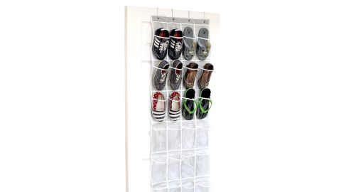 Simple Houseware Crystal Clear Over The Door Hanging Shoe Organizer