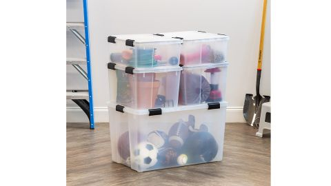 The Container Store Clear Weathertight Totes