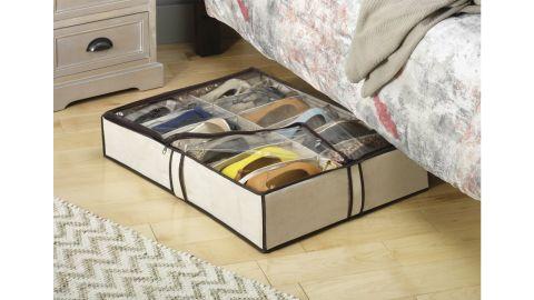Rebrilliant Fabric Underbed Shoe Storage