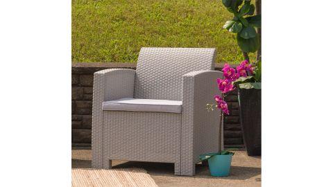 Flash Furniture Gray Rattan Outdoor Chair