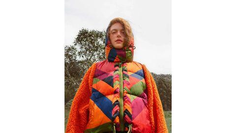 Farm Rio Juliana Stripes Puffer Jacket