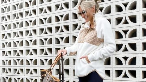 Abercrombie & Fitch Asymmetrical Snap-Up Fleece