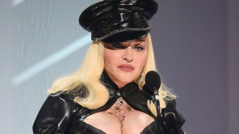 NEW YORK, NEW YORK - SEPTEMBER 12: Madonna speaks onstage during the 2021 MTV Video Music Awards at Barclays Center on September 12, 2021 in the Brooklyn borough of New York City. (Photo by Theo Wargo/Getty Images for MTV/ViacomCBS)