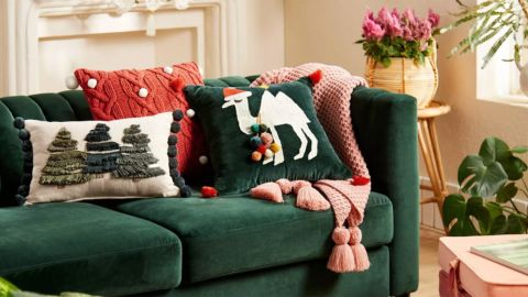 Opalhouse Designed With Jungalow Embroidered Christmas Camel Square Throw Pillow