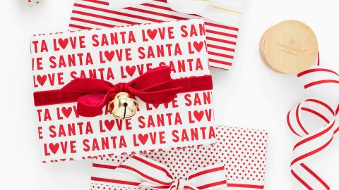 Sugar Paper Red Love Santa Gift Wrap