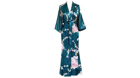 Kim+Ono Women's Satin Kimono Robe