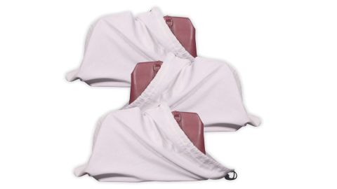 Cotton Breathable Drawstring Dust Covers, 3-Pack