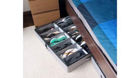 storageLAB Under Bed Shoe Storage Organizer with Adjustable Dividers