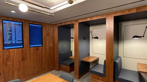 Booths ideal for working with wireless charging technology.