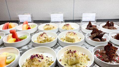 A closer look at some of the dessert options.