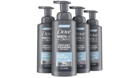 Dove Men+Care Foaming Body Wash, 4 Pack