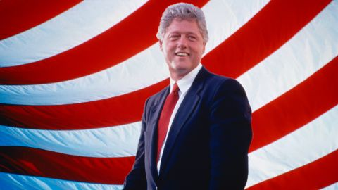 Bill Clinton is seen in 1998 during his second term as US president.