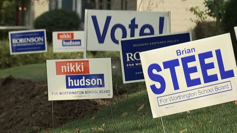 The forests of yard signs around Worthington seem out-of-place for what used to be a low-key, genteel school board election.